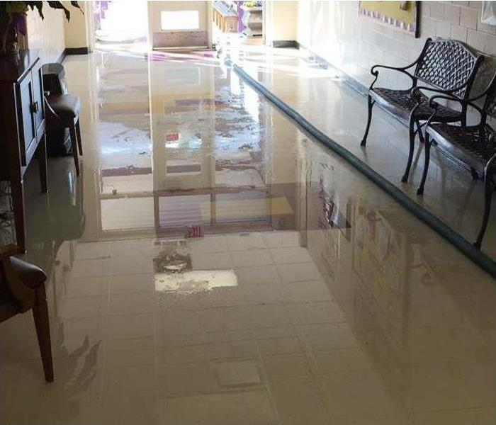 Commercial Water Damage In Bel Air Before