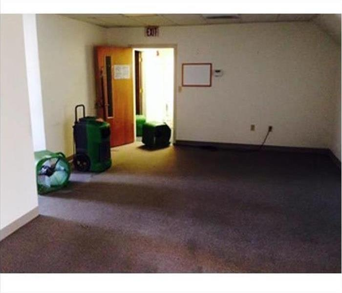 Commercial Water Damage – Bel Air Office Before