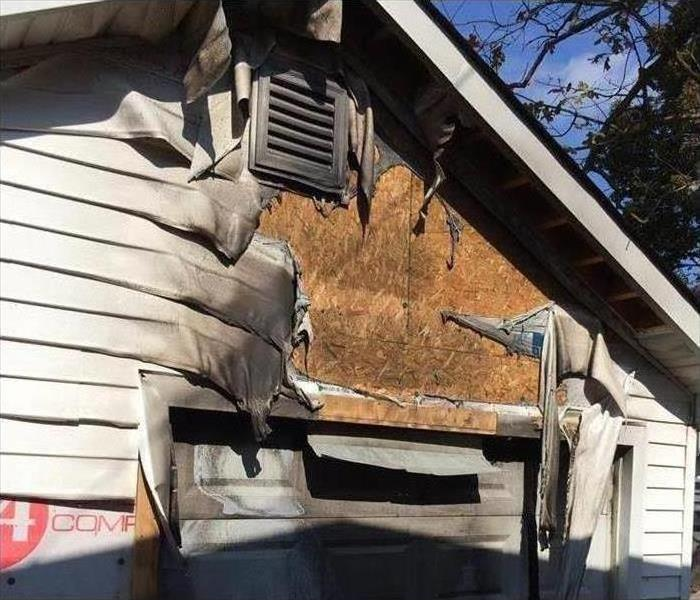 Fire Damage – Bel Air Garage	 Before